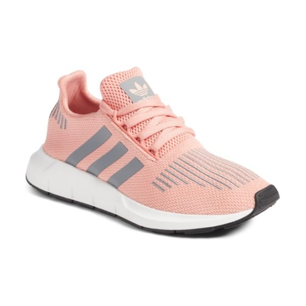 Adidas swift run sneaker in trace pink/ grey - A sleek new silhouette inspired by running shoes in the...