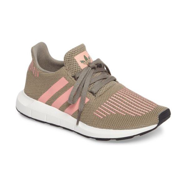 Adidas swift run sneaker in trace cargo/ trace pink - A sleek new silhouette inspired by running shoes in the...
