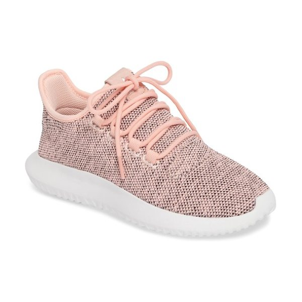 Adidas tubular shadow sneaker in coral/ light onyx/ black - An updated take on the classic Tubular sneaker, this...
