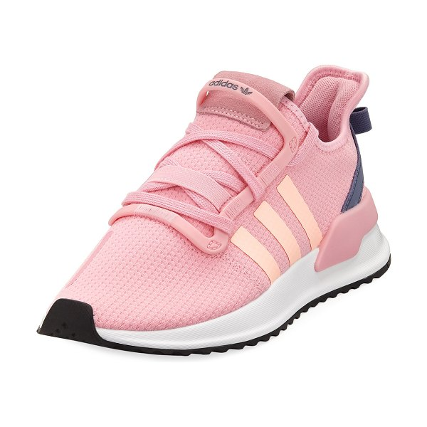Adidas U Path Knit Running Sneakers in pink/orange - Adidas lightweight running sneaker in polyester knit and...