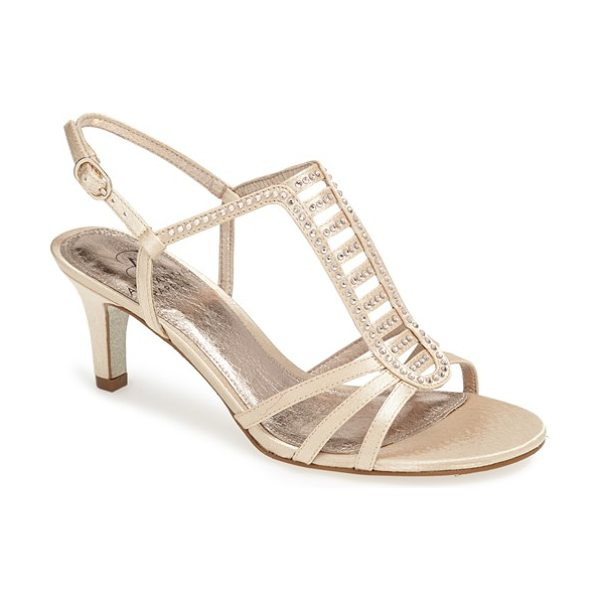 Adrianna Papell ainsley sandal in nude satin - Tiny sparklers lend shimmer and grace to the slender...