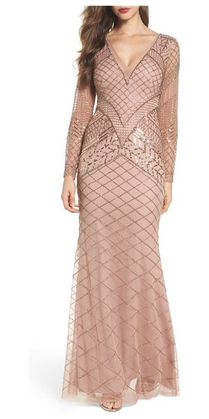 ADRIANNA PAPELL embellished mermaid gown - Shimmering beads and sequins illuminate this stunning...