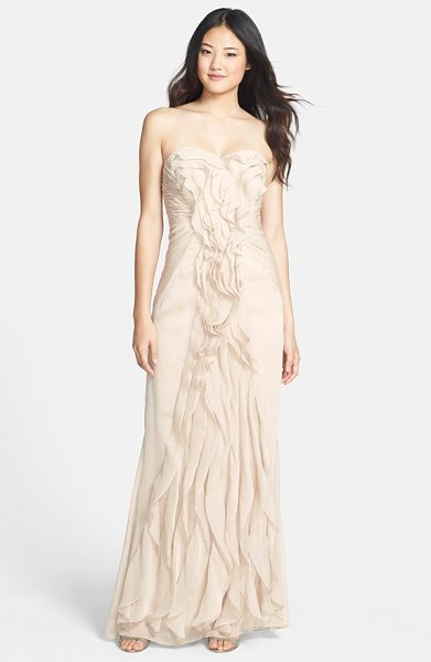 ADRIANNA PAPELL ruffled chiffon dress - Decadent ruffles lavishly swirl and ripple down the...