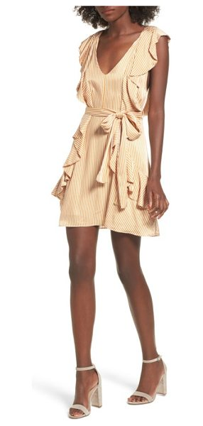 AFRM clara ruffle minidress in nude stripe - When it comes to ruffles, the more the...