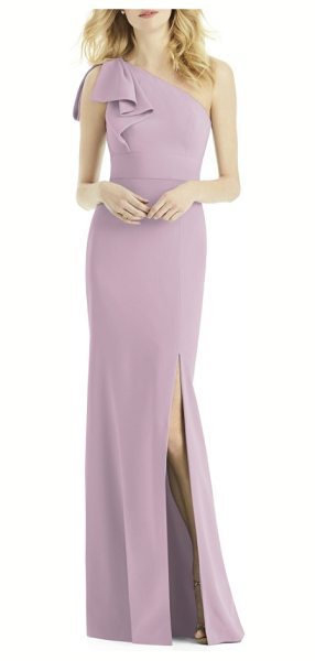 AFTER SIX bow one-shoulder gown - Wrap the special day up with a pretty bow, just like the...