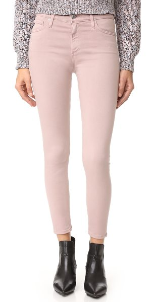 AG Adriano Goldschmied the farrah skinny crop jeans in sulfur deco mauve - Sleek AG skinny jeans in soft, sateen-like denim. High...