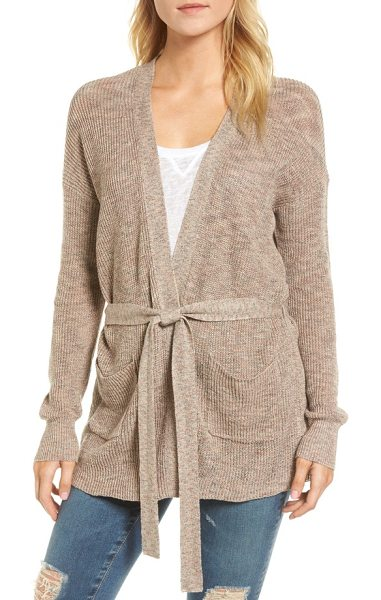 AG Adriano Goldschmied amara cardigan in brown - As easygoing as your weekend plans, this lightweight...