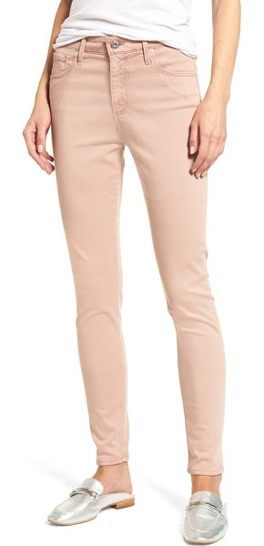 AG Adriano Goldschmied farrah high waist ankle skinny jeans in sulfur rose gold - Super-versatile high-rise jeans are fashioned from faded...
