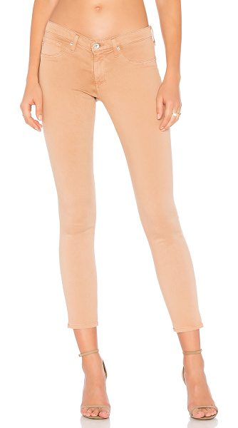 AG Adriano Goldschmied Legging Ankle in sulfur pale terra cotta - 59% cotton 31% modal 8% poly 2% elastane. Faux front...