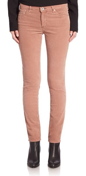 AG Adriano Goldschmied prima cigarette corduroy pants in sulfur dry rose - Mid-rise corduroy pants in skinny silhouette. Belt...