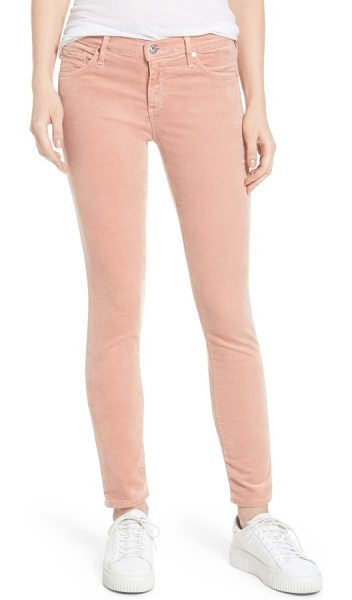 AG Adriano Goldschmied super skinny velvet leggings in rose gold - Richly colored velvet brings luxurious dimension to...