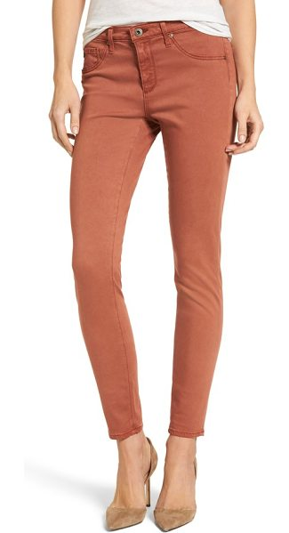 AG Adriano Goldschmied the legging ankle jeans in immersed raw sienna - Cut in a curve-sculpting silhouette with a sateen sheen,...