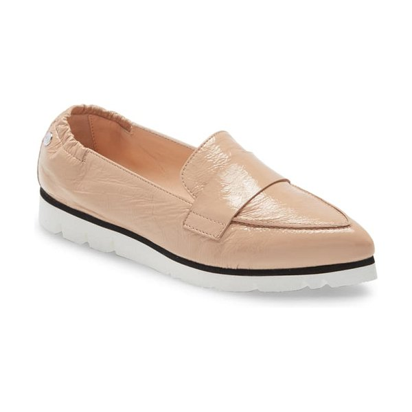 AGL micro pointed toe loafer in beige