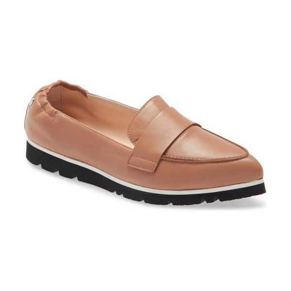 AGL micro pointed toe loafer in brown
