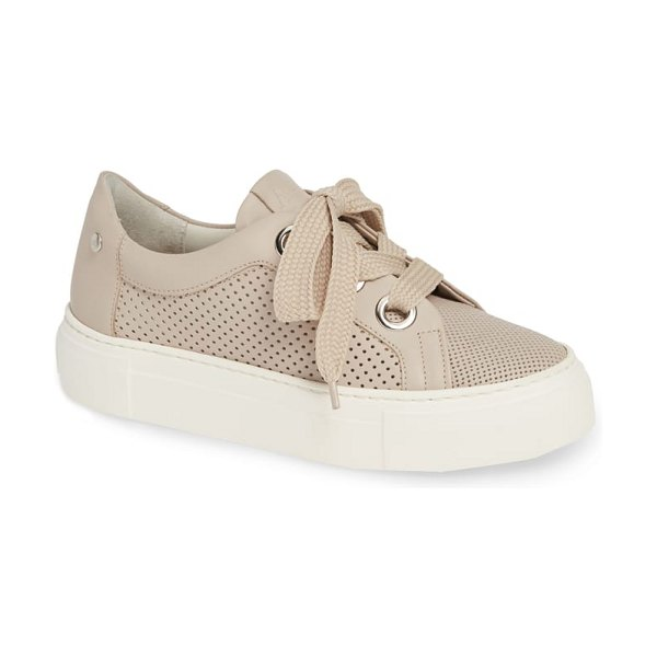 AGL perforated platform sneaker in beige