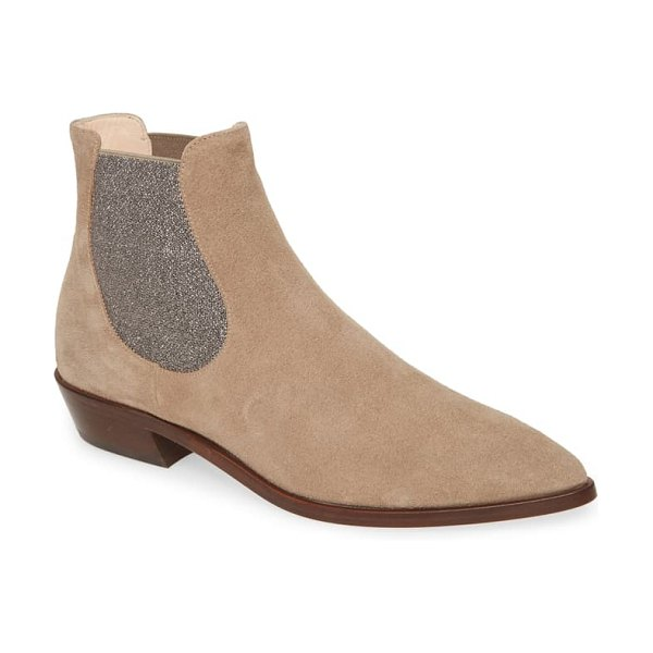 AGL pointed toe chelsea boot in beige