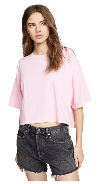 AGOLDE boxy tee in rose pink