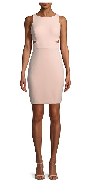 Aidan by Aidan Mattox Scuba Crepe Cutout Cocktail Dress in blush - EXCLUSIVELY AT NEIMAN MARCUS Aidan by Aidan Mattox scuba...