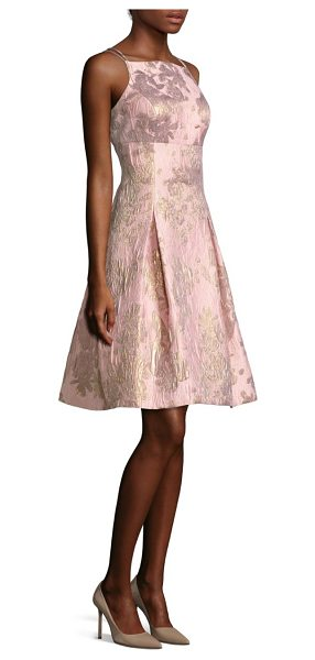 Aidan Mattox embroidered a-line cocktail dress in petal - This striking a-line dress is perfect for formal...