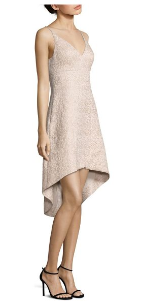 Aidan Mattox Jacquard Fit Amp Flare Hi Lo Dress Nudevotion