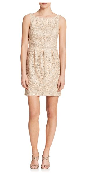 Aidan Mattox Lace cut-out bridesmaid dress in champagne - An alluring cut-out back, well-suited to fashion-forward...