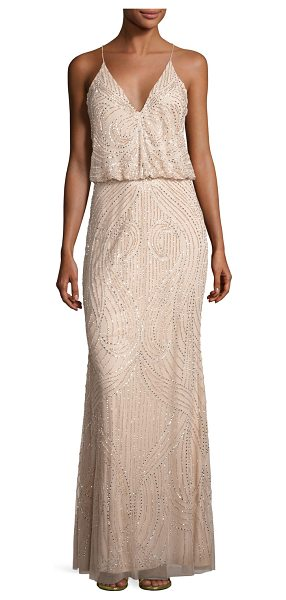AIDAN MATTOX Sleeveless Beaded Blouson Gown - ONLYATNM Only Here. Only Ours. Exclusively for You....