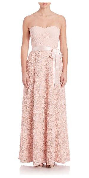 Aidan Mattox strapless sequin gown in blush - Gorgeous gown with beautiful sequin lace details....