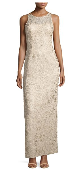 Aidan Mattox Strappy Soutache Column Gown in champagne - ONLYATNM Only Here. Only Ours. Exclusively for You....