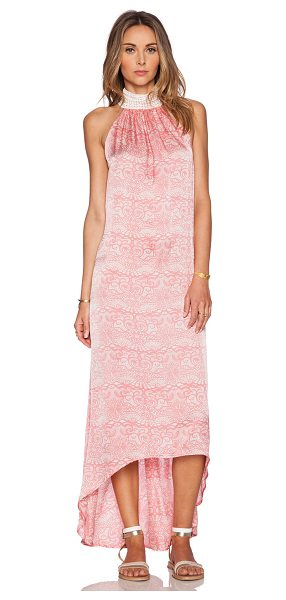 Aila Blue Jelita maxi dress in pink - Rayon blend. Hand wash cold. Unlined. Neckline lace...