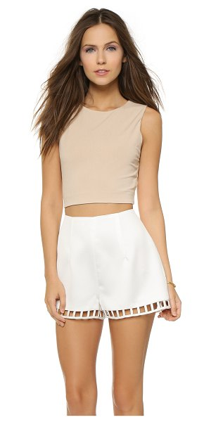 AIR by alice + olivia Twist back crop top in nude - A twist accents the flirty cutout on this AIR by alice +...