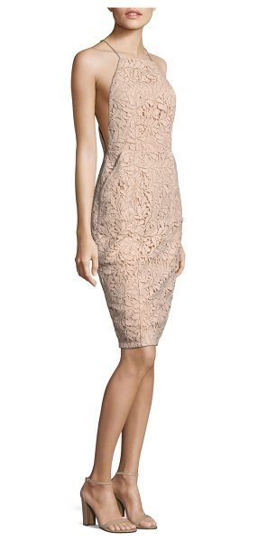 AIRLIE isolla bell midi dress - Midi polyester-blend dress featuring lace pattern and...