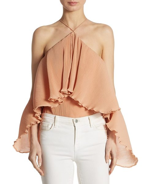 AIRLIE princess frilled bodysuit in blush - EXCLUSIVELY AT SAKS FIFTH AVENUE. From the Summer Loving...