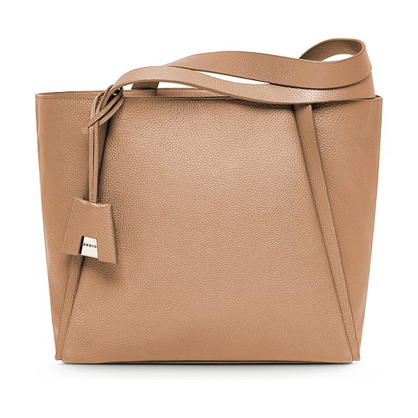 AKRIS Alex Medium Tote Bag in khaki - Akris grained calf leather bucket tote bag. Shoulder...