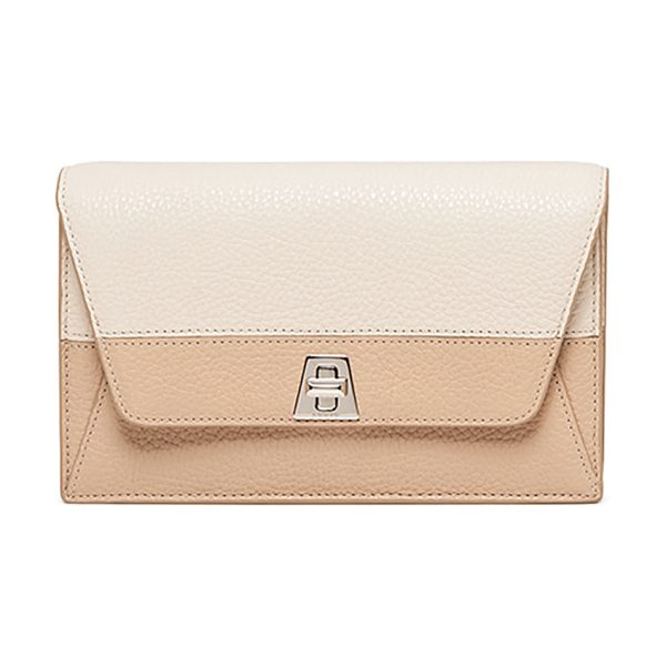 AKRIS Anouck Clutch Bag w/Chain - Akris pebbled cervo leather clutch. Removable chain...