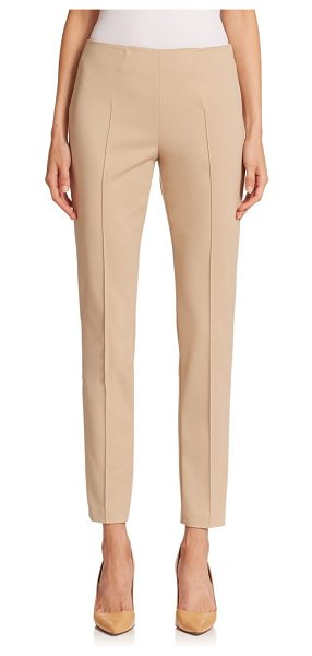 AKRIS melissa techno pants in sand - From the Architecture Collection Minimalist slim pants...