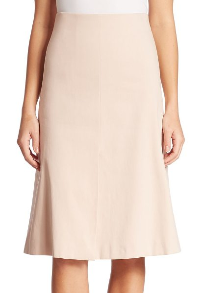 AKRIS cotton double face a-line skirt in nude - The forever flattering a-line silhouette in a soft...