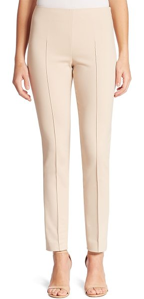 AKRIS melissa stretch techno cotton pants - Slim silhouette in stretch cotton blend. Flat front....