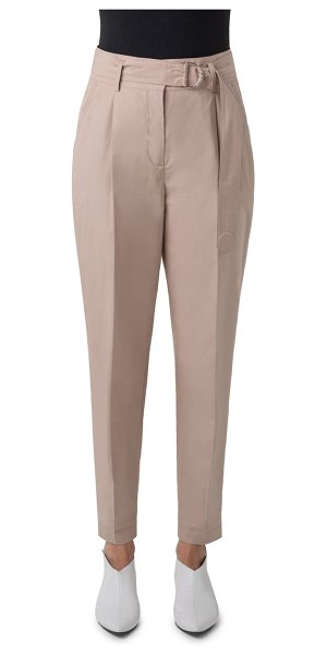 Akris punto fred belted cotton pants in beige