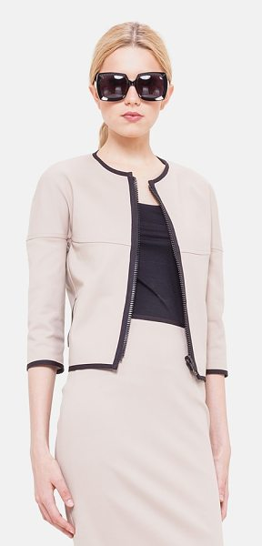 Akris punto reversible techno cotton blend jacket in corde - Thick black trim reinforces the graphic aesthetic of a...