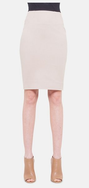 Akris punto techno pencil skirt in corde - A thin black waistband completes the modern aesthetic of...