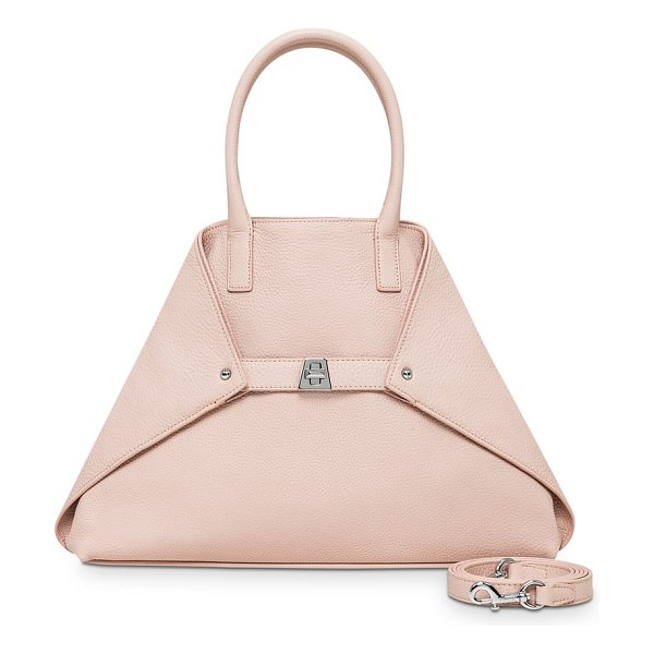 AKRIS small ai top handle tote in pink