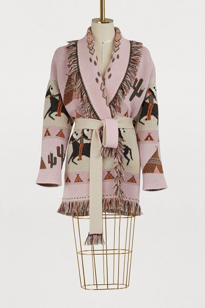 ALANUI Cashmere cardigan in pink - To design this cashmere cardigan, avant-garde brand...