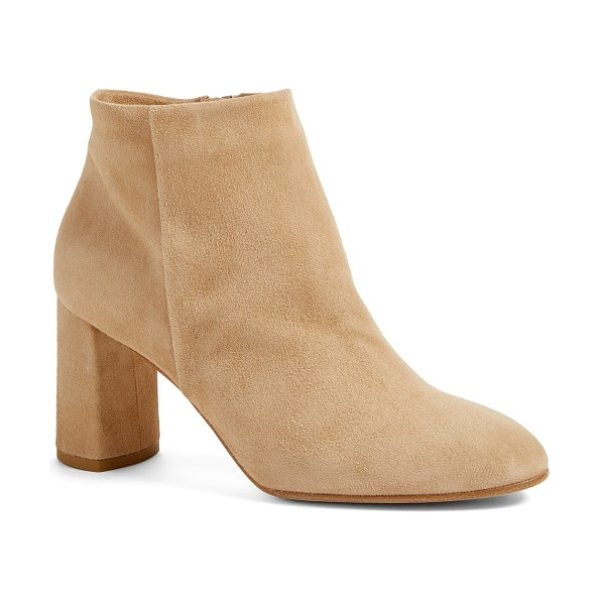 Alberto Fermani aster bootie in travertine - A wrapped block heel lifts a streamlined bootie crafted...
