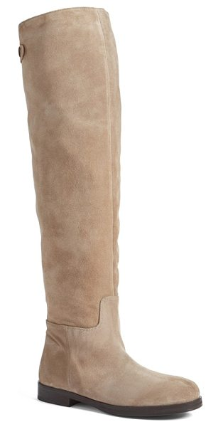 Alberto Fermani dora over the knee boot in cocco/ sand - Clean, uncomplicated styling delivers a long, lean look...