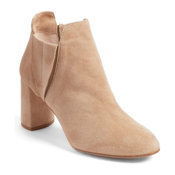Alberto Fermani nadina chelsea bootie in travertine - Alberto Fermani reimagines the Chelsea bootie with this...
