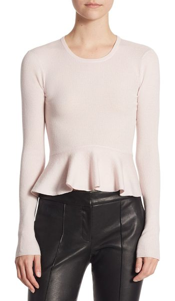 A.L.C. alex peplum sweater in soft blush - EXCLUSIVELY AT SAKS FIFTH AVENUE. Fitted wool-blend...