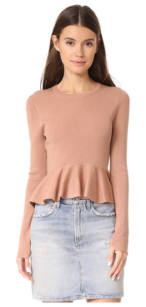 A.L.C. alex sweater in buff - This ribbed knit A.L.C. sweater has a formfitting...