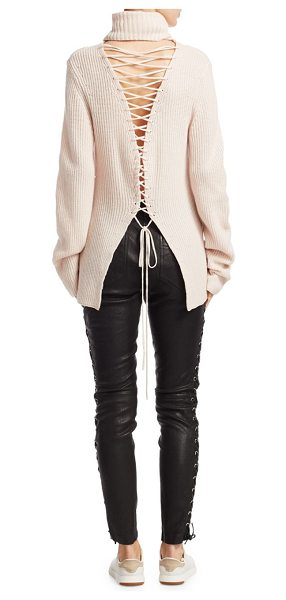 A.L.C. alexander lace-up sweater in soft blush - EXCLUSIVELY AT SAKS FIFTH AVENUE. Wool-blend sweater...