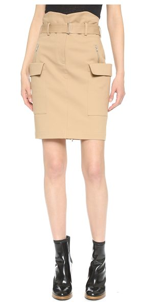 A.L.C. Alvin skirt in camel - A pencil skirt gains a military inspired feel with side...
