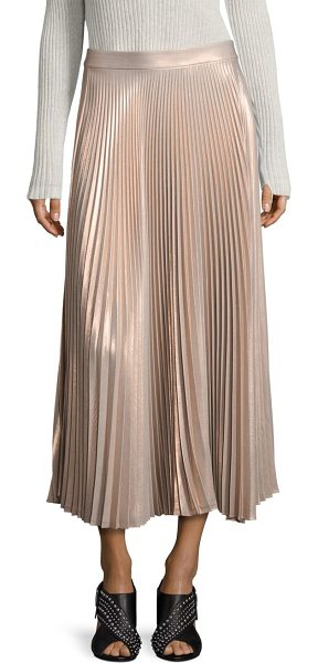 A.L.C. bobby metallic pleated maxi skirt in light rose - Fluid, pleated maxi skirt in glimmering metallic finish....